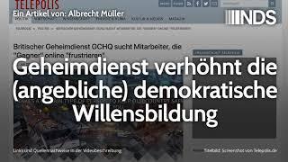 Geheimdienst verhöhnt die (angebliche) demokratische Willensbildung | Albrecht Müller