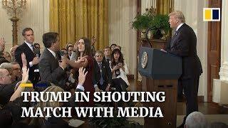 Heftige Pressekonferenz im Weißen Haus 2018