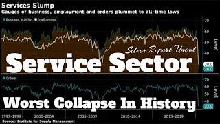 Service Sector Has Worst Collapse In History As Business Activity Grinds To  A Halt