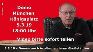 HEUTE 18:00! Spontan Demos in allen deutschen Städten - München Königsplatz