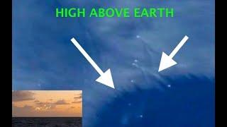 "Fleet of MOVING ""Ships"" Spotted in the Sky Above the Earth from Space! What are they DOING?"