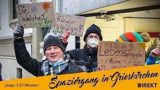 Spaziergänge gegen Corona-Wahnsinn: Widerstand in den Bezirken wächst (Video aus Grieskirchen)