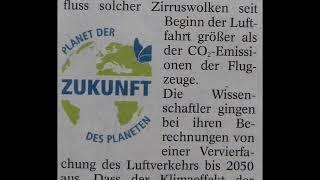 """""""Kondensstreifen heizen Erde auf"""" schreibt die Zeitung"""