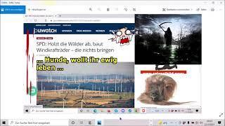 """""""SPD: Holzt die Wälder ab, baut Windkrafträder – die nichts bringen, nein, doch oaaah!!!"""" ..."""