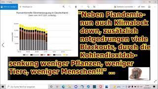 """""""Blackouts und aufgrund CO2 Mangels noch weniger Pflanzen, Tiere und Menschen!!!"""" ..."""