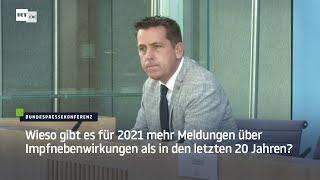 8.9.2021 - BPK in Erklärungsnot mal wieder  - Wieso gibt es für 2021 mehr Meldungen über Impfnebenwi