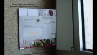 Beschluss der Staatsanwaltschaft Dortmund im Hausflur = förmliche Zustellung