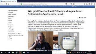 Trailer / Wie geht fb mit Falschmeldungen von Drittanbieter-Faktenprüfer um?