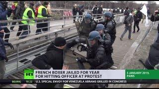 French boxer jailed for year for hitting officer at Yellow Vest protest