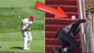 Trump spielt Golf, perfekt ! Joe Biden als Ziel, als ....Loch