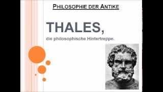 Thales, die philosophische Hintertreppe.