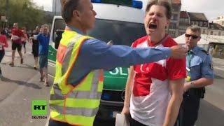 """Berlin: Erdogan-Fan wird geschlagen und bekommt danach """"Nazimethoden"""" der Polizei zu spüren"""