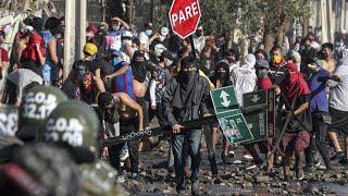 Krawalle in Chile wegen Coronabeschränkungen