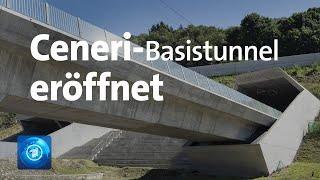 Die dritte große Alpen-Unterquerung in der Schweiz ist eröffnet worden: der Ceneri-Basistunnel