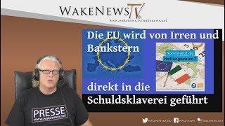 Die EU wird von Irren und Bankstern direkt in die Schuldsklaverei geführt  20180605