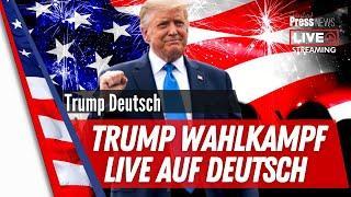Trump Wahlkampf 2020 Rally Live auf deutsch aus Waukesha, Wisconsin