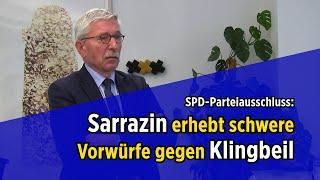 SPD-Parteiausschluss: Sarrazin erhebt schwere Vorwürfe gegen Klingbeil