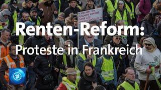 Proteste gegen Renten-Reform in Frankreich 2020