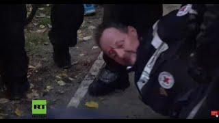 DE: RETTUNG wird von Polizei bedroht und niedergeschlagen. Hilfe für Verletzte verboten! 18.11.2020