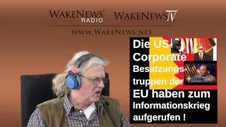 U.S.-Corporation im EU-Besatzungs-Informationskrieg gegen Russland - Wake News Radio/TV 20150324