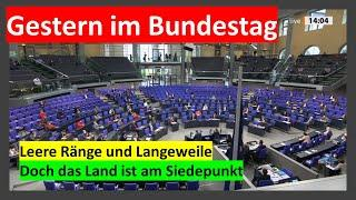 BUNDESTAG - Missachtung der als Krise bezeichneten Realität