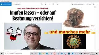 """""""Impfen lassen oder auf Beatmung verzichten und vieles mehr!!!"""" ..."""
