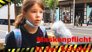 cool girl über die Maskenpflicht in den Schulen - Demo Berlin 29.8.2020