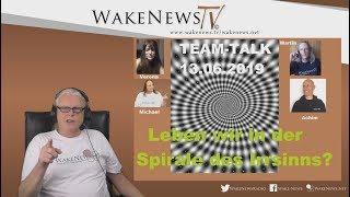 Leben wir in der Spirale des Irrsinns? TEAM-TALK 13.06.2019 - Wake News Radio/TV