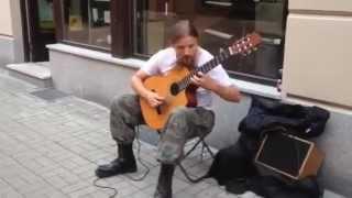 """Die """"wahren Musiker"""" findet Du sehr oft auf der Straße ! Gitarrist  Mariusz Goli aus Polen"""