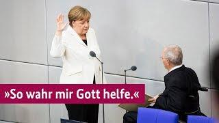 Wir Deutschen sind für die BRD Nützlinge - Amtseid von Kanzlerin Merkel im Bundestag