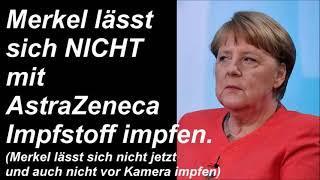 Merkel vorerst nicht geimpft und auch nicht im TV.