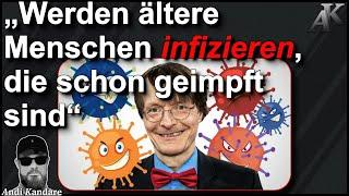 """Lauterbach obskur: """"Werden ältere Menschen infizieren, die schon geimpft sind"""""""