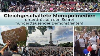Gleichgeschaltete Monopolmedien unterdrücken den Schrei hunderttausender Demonstranten! | 23.09.2020