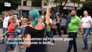 Dutzende Festnahmen bei Protesten gegen Corona-Maßnahmen in Berlin