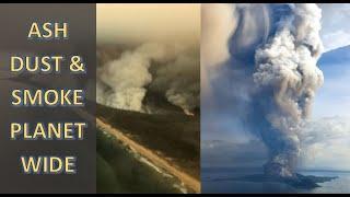 Australia Smoke Circles Southern Hemisphere Taal Erupts (936)