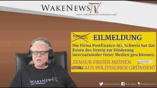 Angriff auf die freien Medien - Firma Postfinance sperrt Konto des Förder-Vereins 20180424