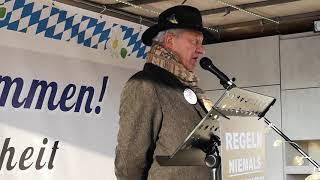 Karl Hilz #Demo Solidarität für #Rolf #Kron #FFB 15.01.21 (Fürstenfeldbruck)