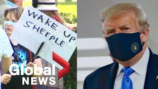 Anti-mask protests in Canada while Trump promises no mandate in America