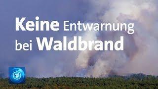 Waldbrand in Mecklenburg-Vorpommern: Feuer breitet sich aus