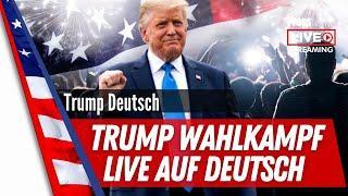 Trump Wahlkampf 2020 Rally Live auf deutsch aus Gastonia, NC NorthCarolina