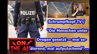 """Trailer: Schrumpfkopf TV / """"Die Menschen unter Drogen gesetzt — mal sedierend, mal aufputschend"""" ."""