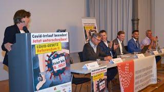 Pressekonferenz: Referendum II Covid-Gesetz (8. Juli 2021)