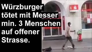 Afro-Würzburger tötet Passanten. - Würzburg