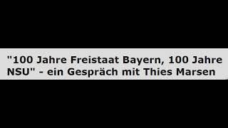 100 Jahre Freistaat Bayern - 100 Jahre NSU (Radio Corax, Halle)