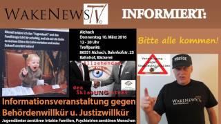 Demo gegen Behörden- u. Justizwillkür in Aichach, Bayern – 10. März 2016