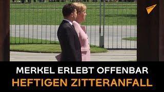 Merkel erlebt heftigen Zitteranfall bei Treffen mit Selenski