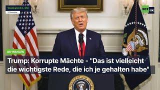 """Was nie bei uns gesendet wurde: Trump: Korrupte Mächte - """"Das ist vielleicht die wichtigste Rede, d"""