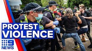 Coronavirus: Anti-lockdown protest erupts in violence   9 News Australia