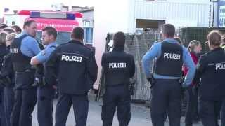 Massenschlägerei im Flüchtlingslager Kassel Calden
