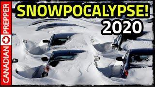 Snowpocalypse 2020 CRAZY Record Snow in Canada!